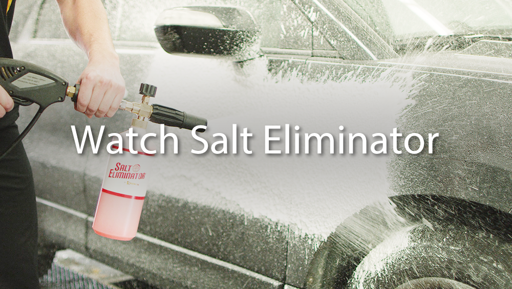 Salt Eliminator applied to car